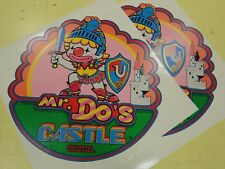 Mr Do's Castle Arcade Game Side art decal set