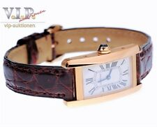 CARTIER TANK AMERICAINE UHR GOLDUHR DAMENUHR MONTRE 18K/750 SOLID GOLD WATCH+BOX
