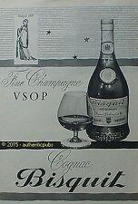 PUBLICITE BISQUIT COGNAC FINE CHAMPAGNE VSOP VERRE DE 1960 FRENCH AD ADVERT PUB