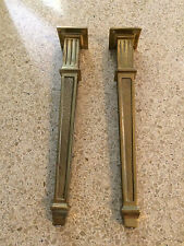 Set of 4 Italian Coffee Table Brass Legs Hollywood Regency Salvaged Vintage WOW!