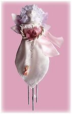 """Made-in-the-USA 14"""" Tall Breast Cancer Angel Indoor Solar Chime by Sunblossum"""