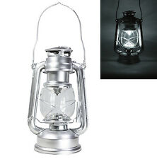 Dimmable Portable Hurricane Lantern 15 LED Light Camping Tent Carry Lamp ~Silver