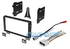 DOUBLE 2 DIN CAR STEREO RADIO DASH KIT INSTALLATION TRIM BEZEL W/ WIRING HARNESS
