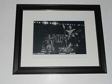 "Framed Kiss Ace Frehley & Gene Simmons 1977 LA Forum on Stage Poster 14"" by 17"""