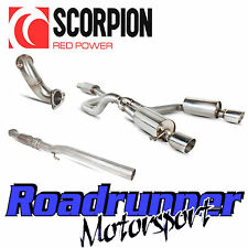 "Scorpion Corsa VXR & Nurburgring Exhaust 3"" Turbo Back Resonated & Cat A16 10-13"