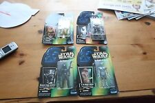 Star Wars POTF lot of 4 Figures new in package