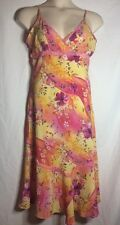 MILLENIUM MEDIUM Floral Spring Easter Lace Trim Pink Yellow SUN DRESS