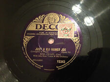 "BING CROSBY ""The Lonesome Road""/""Just A Kid Named Joe"" 78rpm 10"" 1939  G+"