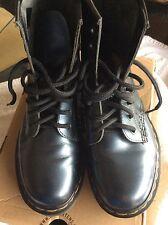 Dr Martens Boots size 4 (Metallic blue/grey)