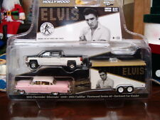 GREENLIGHT ELVIS HITCH AND TOW COLLECTION NEW IN PACKAGE1955 PINK CADILLAC