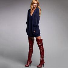 Womens Ladies Wool Knit Oversized Baggy Sweater Sweatshirt Jumper Tops Outerwear