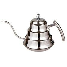 1.2L Fine Mouth Coffee Pot Stainless Steel Coffee Drip Kettle Tea Pot Silver
