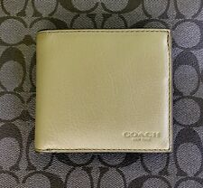 COACH MEN'S SPORTS CALF LEATHER  COIN POCKET CARD SLOT BILFOLD WALLET F75003