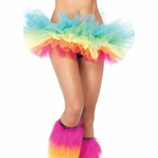 Organza Tutu Rave Petticoat Mini Skirt Rainbow Halloween Costume Cosplay Unicorn