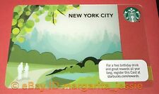 STARBUCKS US GIFT CARD NEW YORK CITY NYC 2012 Central Park Series 6076 NEW