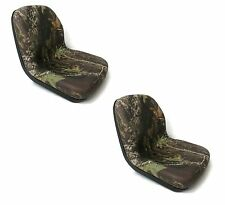 (2) Camo HIGH BACK Seats John Deere Gator Model E-Gator CS CX 4x4 Trail HPX TE