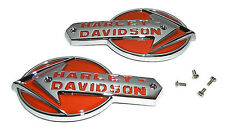Harley - Davidson Gas Tank EMBLEMS with SCREWS for 1959 - 1960 Pan & Servi-Car