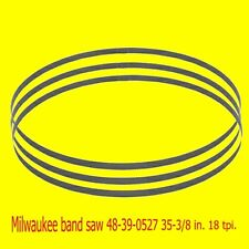 "Milwaukee 48-39-0527 35-3/8"" 18 TPI Compact Band Saw Blade 10 pack."