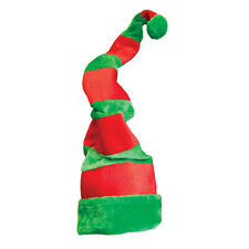 Large Elf Hat Giant Crazy Comedy Green Red Santas Helper Accessory Fancy Dress