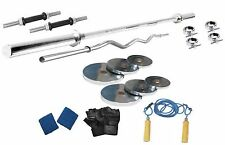 Protoner 26 Kg Steel Weight Lifting Package With 4 Rods Gloves & Rop