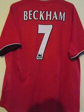 """Manchester United 2000-2002 Beckham Home Football Shirt Adult XXL 49"""" /39518"""