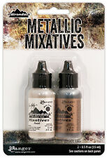 Adirondack Alcohol Ink Metallic Mixatives .5oz 2/Pkg-Pearl & Copper