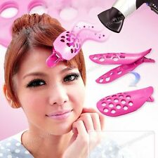 Pair Girls Fringe Roller Natural Styling Front Curler Hair Pin Clip Accessories