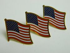 US Flag Lapel Pin, American Patriotic USA, lot of 3