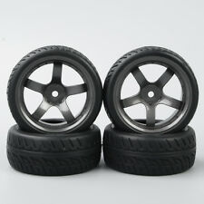 RC Rubber 1:10 On-Road Car Tyre Tires&Wheel Rim 4X KF/D5M+PP0150 For HPI HSP New