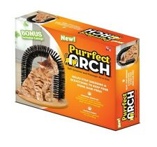 Purrfect Cat Arch Sturdy Self Groomer Scratcher Brusher w/Bag of Catnip, New