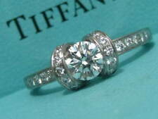 TIFFANY & CO. RIBBON ENGAGEMENT .83 TCW F VVS2 DIAMOND RING CERTIFICATE SIZE 7