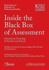 Inside the Black Box of Assessment : Assessment of Learning by Teachers and...
