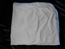 TCP THE CHILDREN'S CHILDRENS PLACE BABY BOY SWADDLE BLANKET COTTON GRAY BLUE