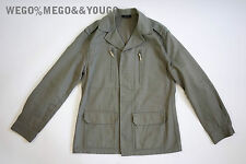 A.P.C. APC Light Gray M-65 General Cotton Button Up Jacket size Small S