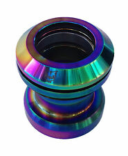 "Team Dogz Rainbow NeoChrome Headset 1 1/8"" inch scooter BMX Threaded Threadless"