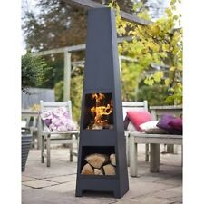 Steel Chiminea Outdoor Patio Fireplace Backyard Garden Heater Fire Pit Wood Yard