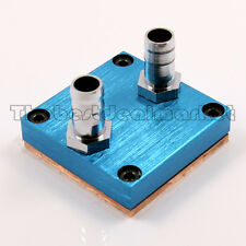 "Water Cooling CPU Block Copper 50X50mm 3/8"" OD Barb For Intel AMD Xeon US Seller"