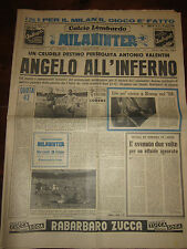 MILAN INTER SETTIMANALE SPORTIVO DI MILANO 22/29 MAGGIO 1959 ANGELILLO SCHIAFFIN