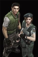 "Resident Evil - 1 2 3 4 5 6 Biohazard Zombie Shoot TV Game 36""x24"" Poster 013"