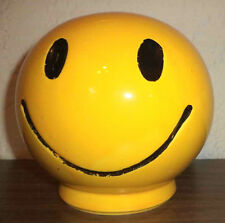 COOL VINTAGE McCOY ART POTTERY LARGE SMILEY FACE PIGGY SAVINGS COIN BANK CLASSIC