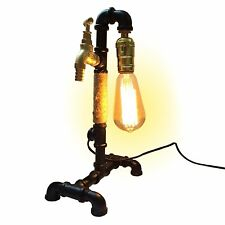 Vintage Industrial Retro Style Pipe Desk Table Lamp Light UK Plug