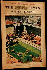 THE (LONDON) TIMES Weekly Edition March 17 1938 Travel Color Number WWII News