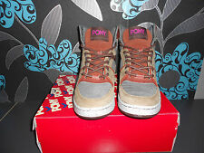 Pony M 100 High Top Sneaker ( Grau / Braun  ) Gr. 42