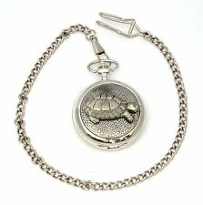 Tortoise Style Pocket Watch Gift Boxed With FREE ENGRAVING Wildlife Gift