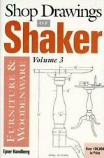Shop Drawings of Shaker Furniture & Wood