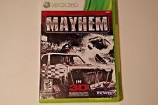 Mayhem (Microsoft Xbox 360, 2011) TESTED, COMPLETE W/ 3D GLASSES, GOOD CONDITION