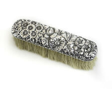 Gorham Sterling Silver Vanity Clothes Brush, c1900 Repousse, hand chased floral