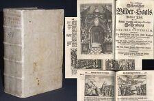 Neu-eröffneter Historischer Bilder-Saal 1722 215 Kupferstiche SEHR SELTEN