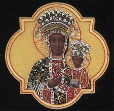"A Catholic Vestment Applique Virgin Mary of Czestochowa 9"" x 9"" Inches  NEW"