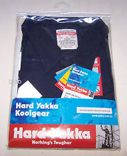 Hard Yakka Mens Koolgear Navy Short Sleeve Shirt 3M Reflective Size 5XL New